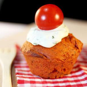 cupcake tomate basilic. Black Bedroom Furniture Sets. Home Design Ideas