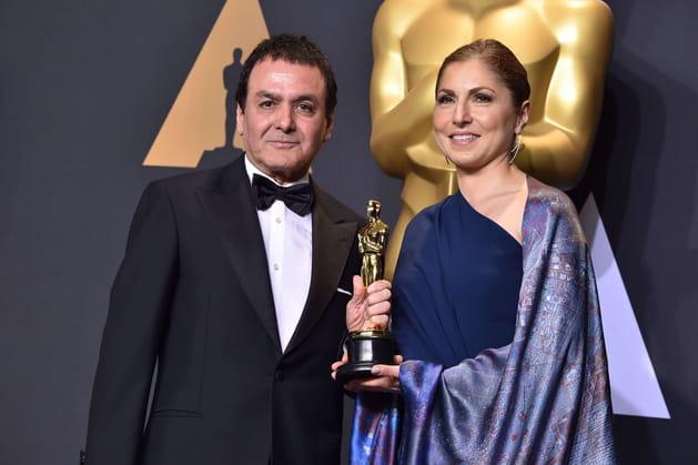 """Anousheh Ansari, venue récupérer l'Oscar du Meilleur film étranger pour """"Le Client"""""""