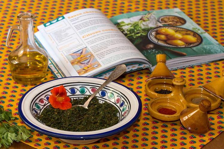Chermoula de persil, coriandre, cumin et paprika