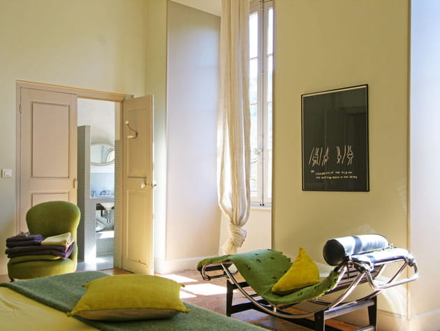 Chaise longue Le Corbusier vert
