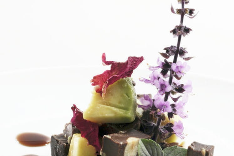 Salade d'avocat au chocolat noir