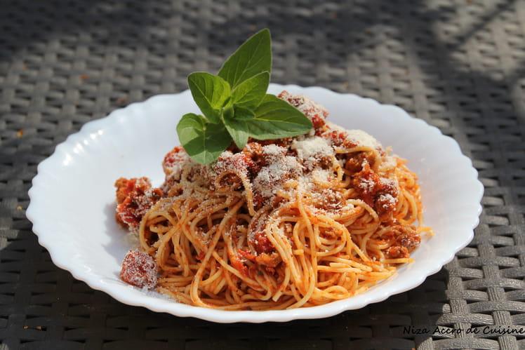 Spaghetti bolognaise végétariens