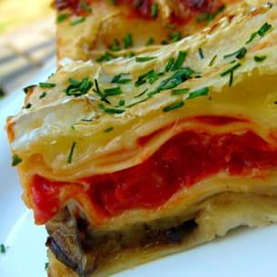 lasagnes aux aubergines et brie de meaux