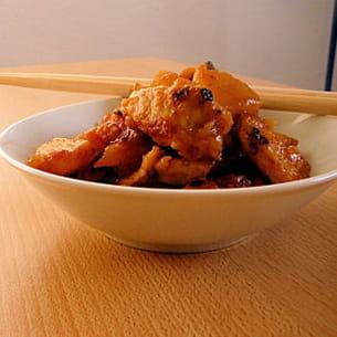 porc aigre-doux au wok
