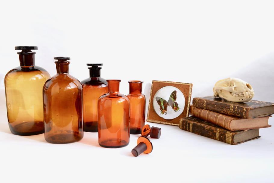 Le truc à chiner: un flacon à pharmacie