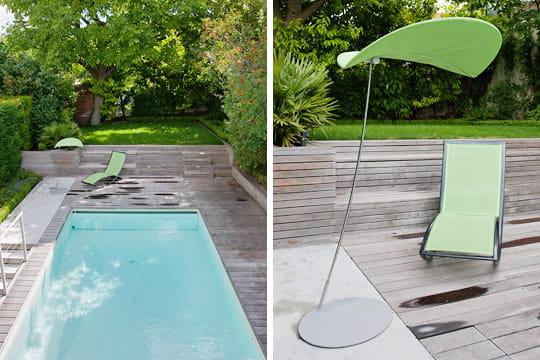 Une piscine et un espace pour se reposer
