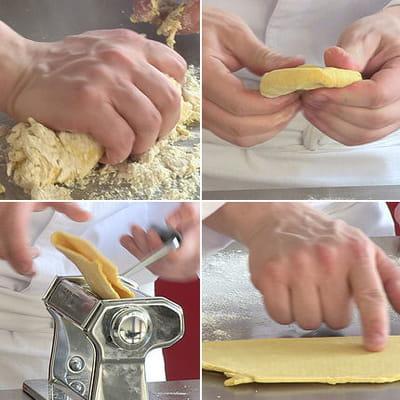 préparation de la pâte à tortelli