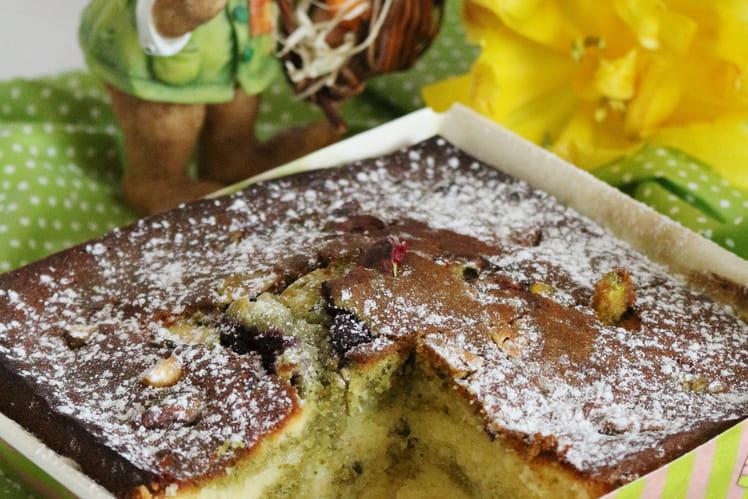 Marbré chocolat amande et thé matcha aux framboises