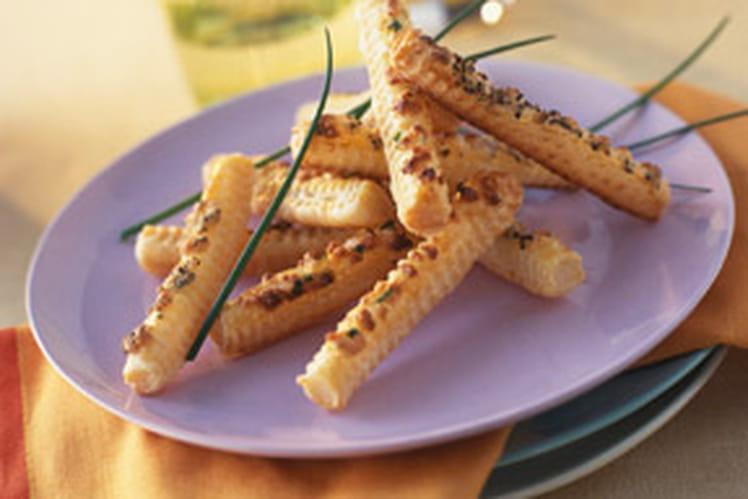 Allumettes feuilletées au Parmesan