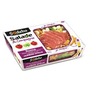 salade roma à la mozzarella et au jambon speck