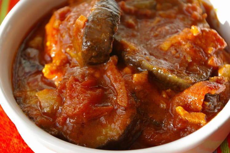 Cassolette d'aubergines à la  sauce  tomate