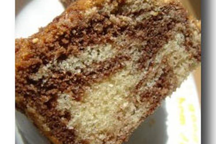 Cake marbré choco-vanille et noix