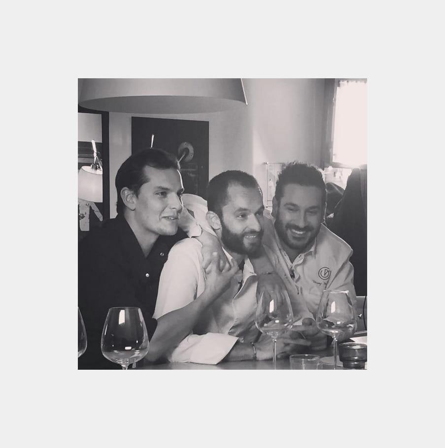 Juan Arbelaez, Yoni Saada et Denny Imbroisi, des potes