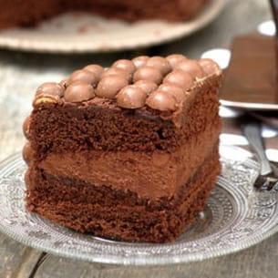 gâteau aux billes chocolatées