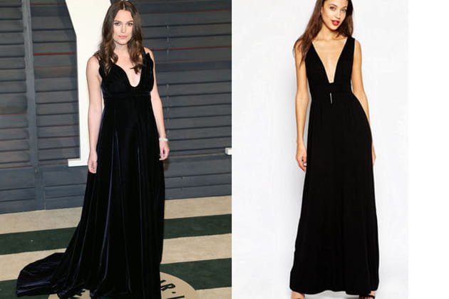 Keira Knightley : une robe noire glamour
