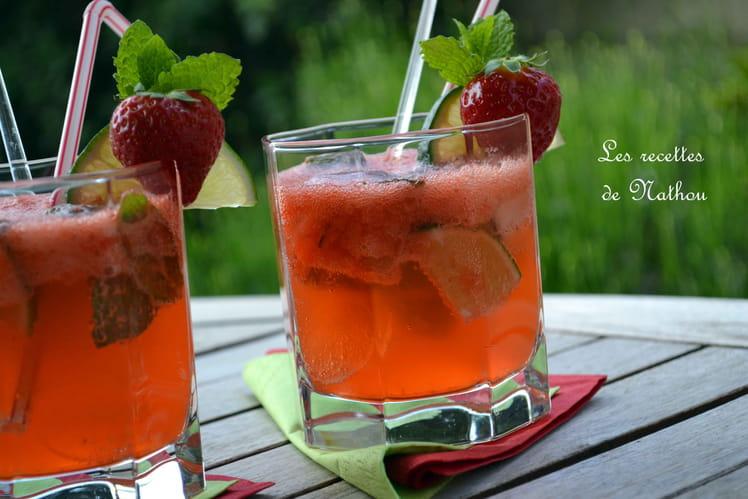 Mojito aux fraises