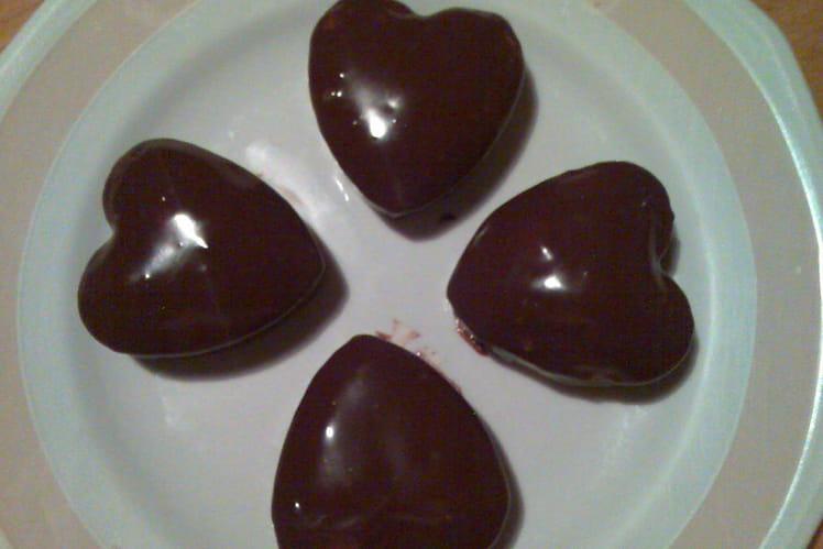 Coeurs fondants aux amandes sans sel