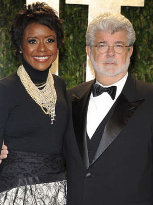 george lucas et sa compagne mellody hobson