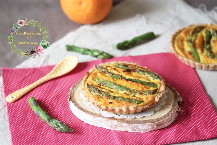 Tartelettes asperges, orange et confiture de clémentine