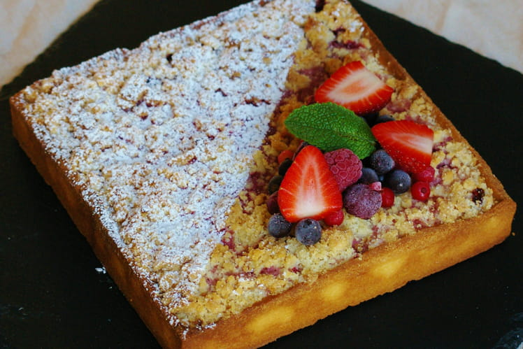 Tarte fruits rouges crumble