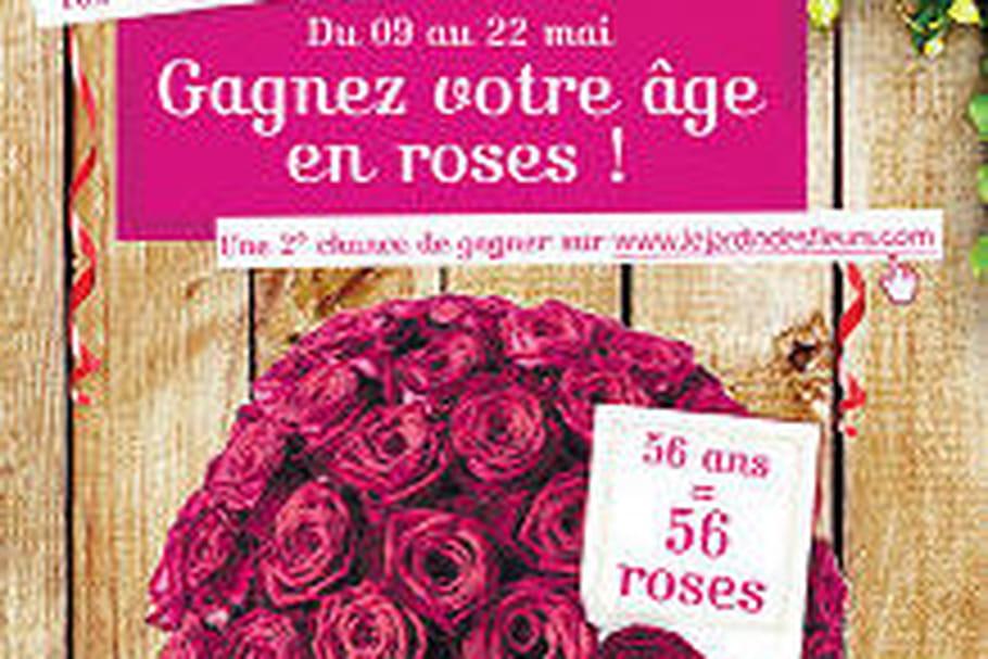 Jardin des Fleurs vous fait gagner votre âge en roses