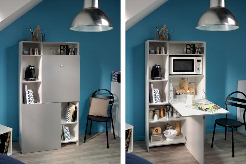 petit espace on opte pour du mobilier convertible. Black Bedroom Furniture Sets. Home Design Ideas