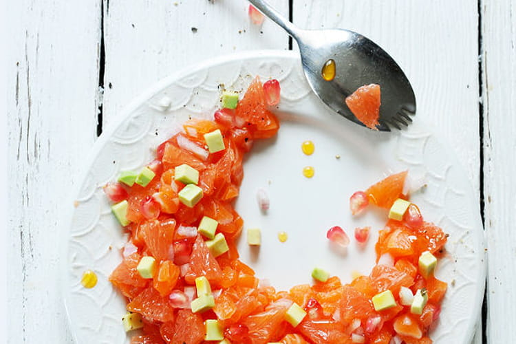 Tartare de saumon au pamplemousse