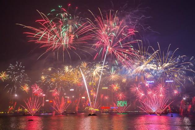 Feu d'artifices du Nouvel An