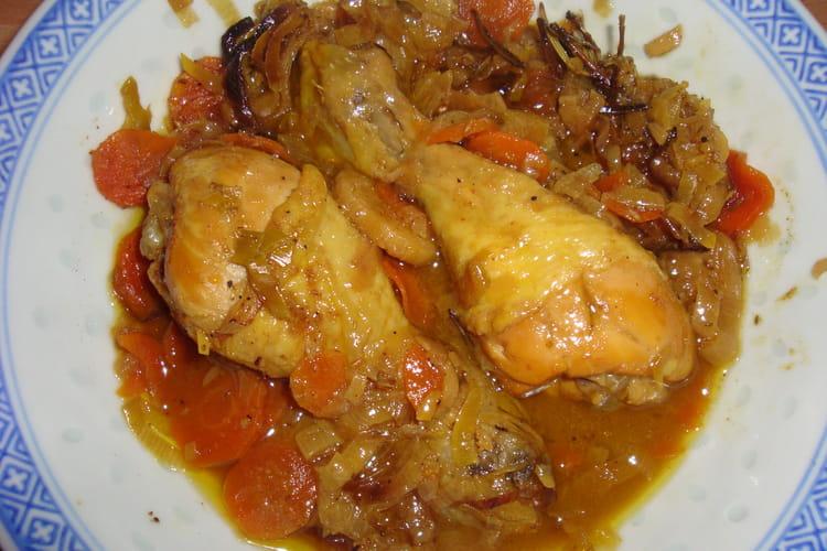 Poulet au curry et sirop d'érable