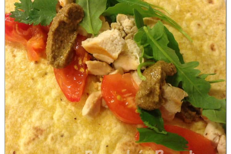 Wrap de poulet, sauce Satay