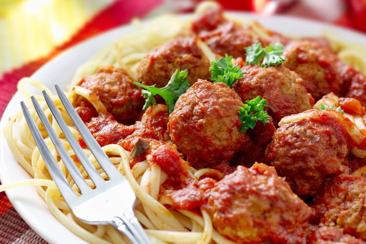 Spaghetti aux boulettes de viande