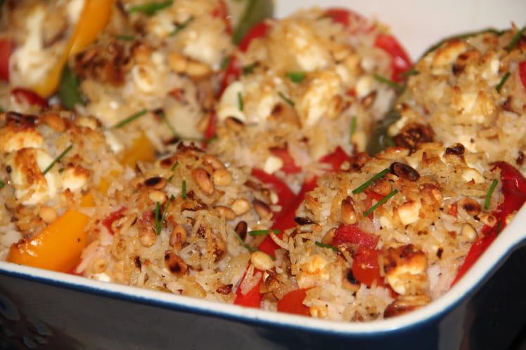 Poivrons farcis au riz à l'orientale