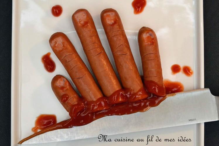 Saucisses apéro façon doigts coupés pour Halloween