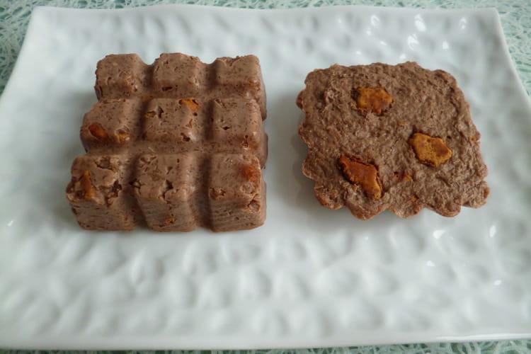 Gâteaux crus hyperprotéinés au chocolat et aux Biscuits Speculoos Minceur