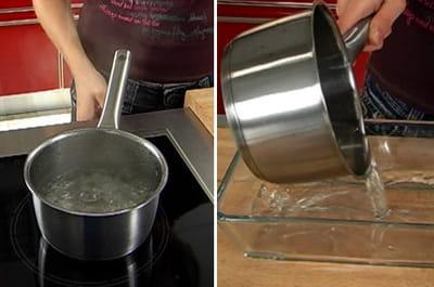 préparer le sirop de sucre.