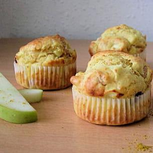 muffins à l'indienne poulet, curry et pomme