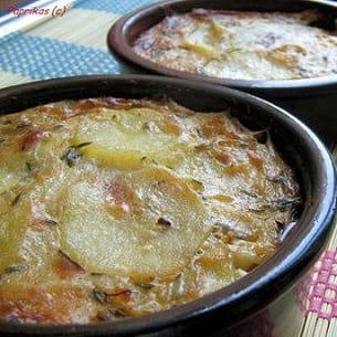 gratin de pommes de terre au roquefort