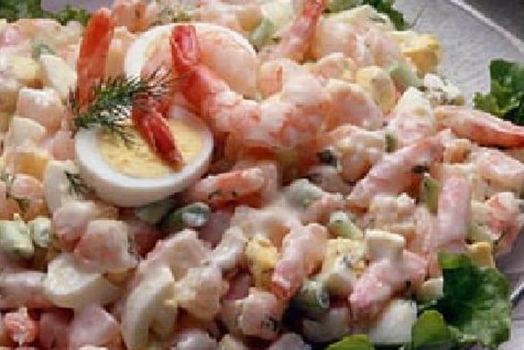 Recette de salade de crevettes la mayonnaise la - Cuisine tv recettes 24 minutes chrono ...