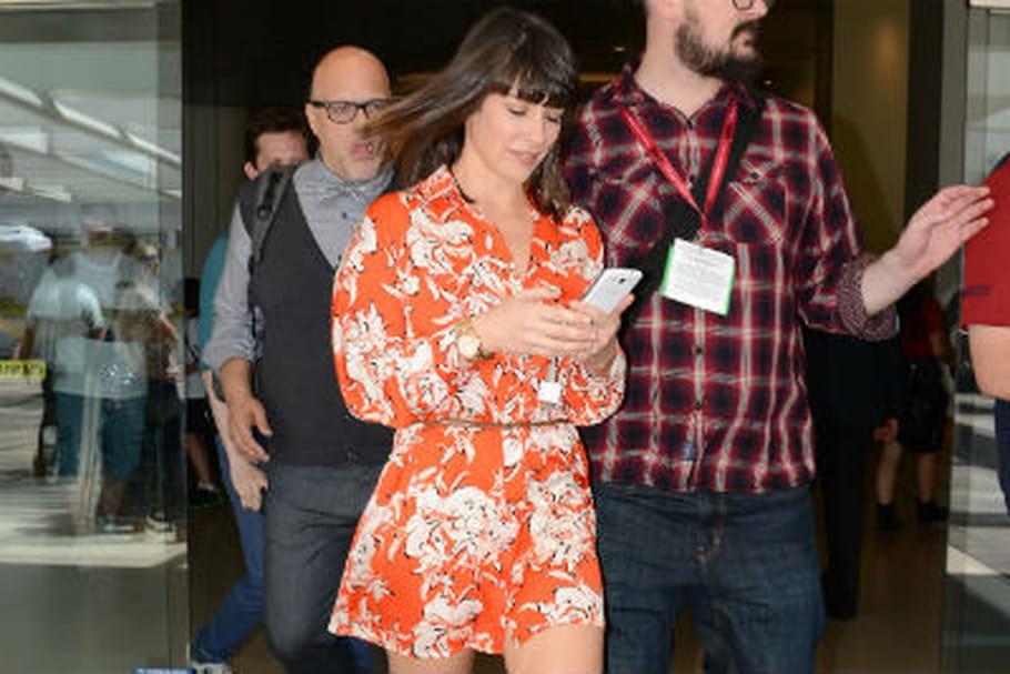Le look people du jour: Evangeline Lilly, fille en fleurs