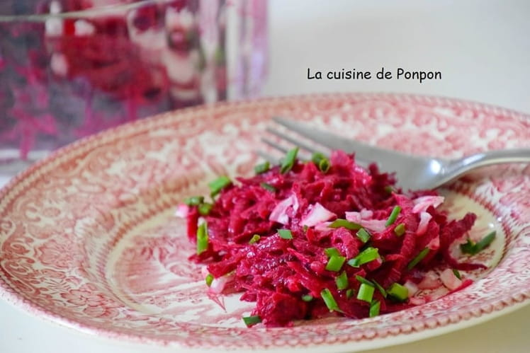 Betterave rouge et sa vinaigrette moutarde et aïoli