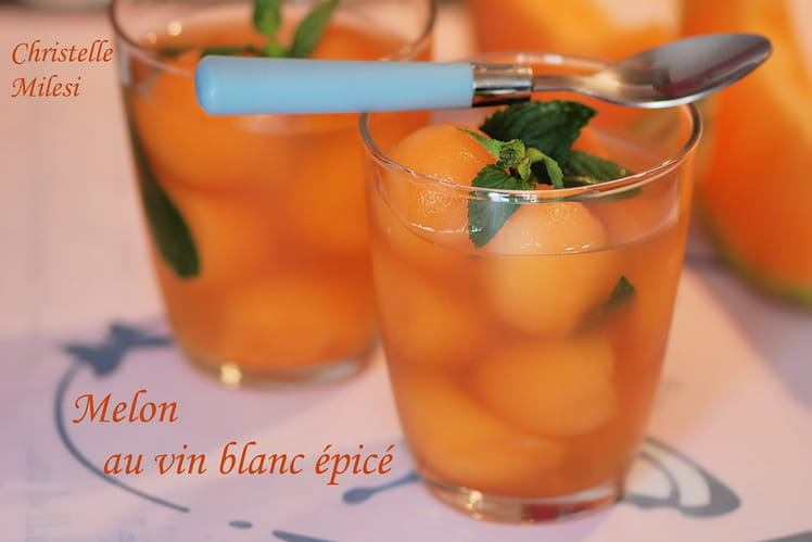 Melon au vin blanc épicé