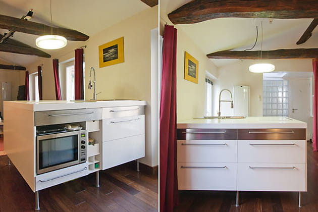 le bloc cuisine. Black Bedroom Furniture Sets. Home Design Ideas