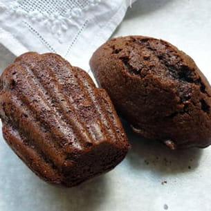 madeleines au chocolat noir et au miel