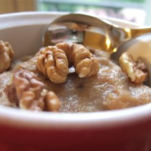 compote de bananes caramélisées aux noix