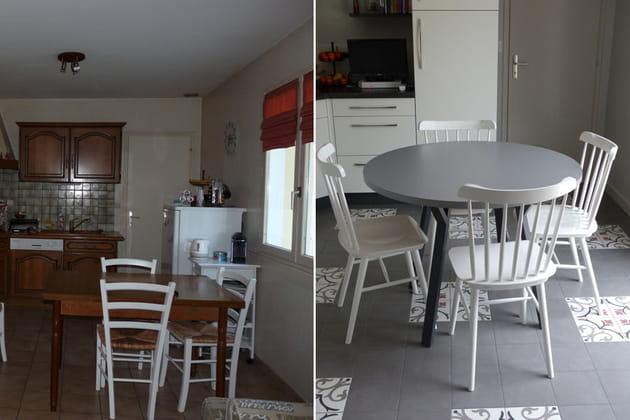 Le mobilier de cuisine : avant-après