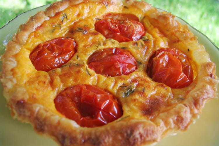 Tartelettes aux tomates cerises et parmesan