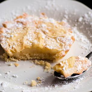 tarte sablée aux pommes et sa crème au citron