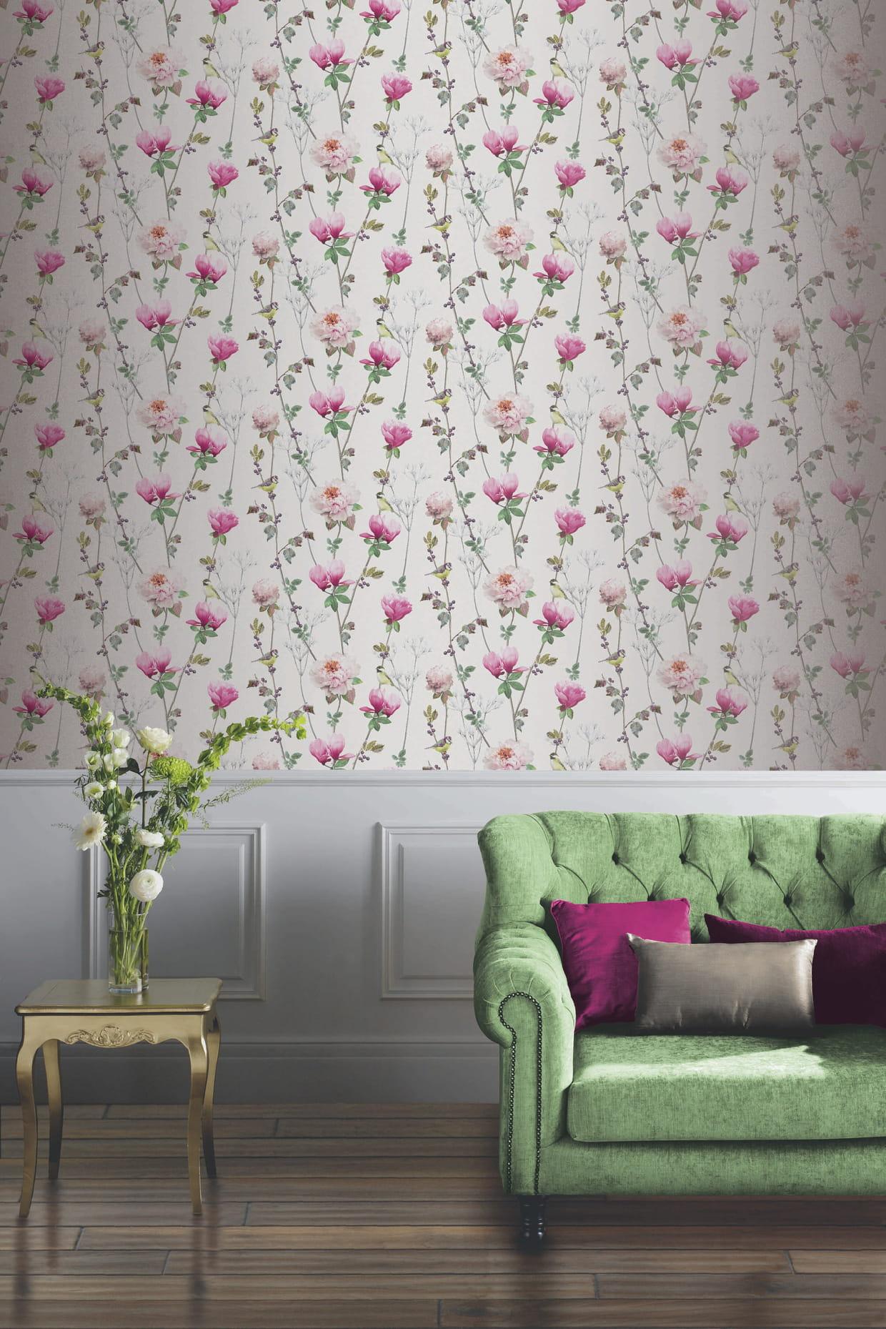 papier peint ella par 4 murs. Black Bedroom Furniture Sets. Home Design Ideas