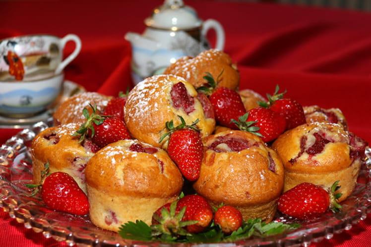 Muffins aux fraises et arôme vanille