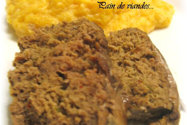Pain de viande, oignons et herbes de Provence